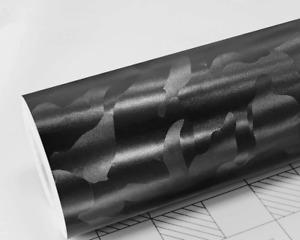 Ghost Black Camo Vinyl Wrap - Car Sticker Decal Film - Bubble Free Camouflage