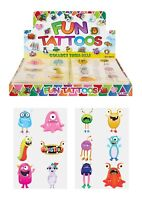 MONSTER KIDS TEMPORARY TATTOOS Assorted Designs Party Bag Filler Loot Girls Boys