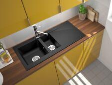 Küchenspüle Spüle Einbauspüle Granit Spülbecken Küche 100 x 50 schwarz respekta