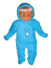 Süßer Baby-Schneeanzug Teddyplüsch, blau, Gr. 62/68
