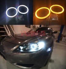 2x Dual Color Switchback SMD Angel Eyes kit Halo Rings For Mazda RX8 2004 - 2008