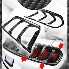 For 2015-2017 Ford Mustang Gloss Carbon Fiber Tail Light Lamp Trim Cover 2PC