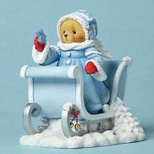 Cherished Teddies*WHITE CHRISTMAS BEAR w/ SLEIGH*New*NIB*STELLAR*Winter*4053456