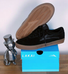 Lakai Skateboard Footwear Skate Schuhe Shoes Sheffield Black Gum Suede 8/41