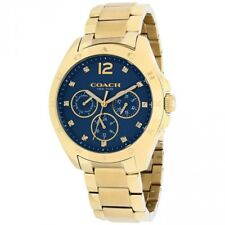 BRAND NEW WOMEN'S COACH (14502072) TRISTEN BLUE TEAL DIAL GOLD TONE WATCH