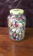 Wooden Spools With Sewing Silk or Rayon Thread lot of 100+