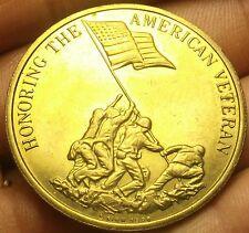 Onorando Americana Veteran Preserva American Freedom Bronzo Medaglione 39mm Coins: Ancient