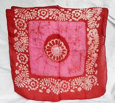 PURA SETA Batik Sciarpa - 100% Puro Sciarpa Di Seta-ognuno unico-nuovo con scatola (V)