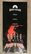 Kings Island Amusement Park Brochure Pamphlet 1996 The Outer Limits Flight Of