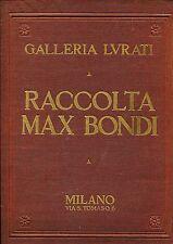 VENDITA ALL'ASTA MAX BONDI GALLERIA LURATI CATALOGO DICEMBRE 1929