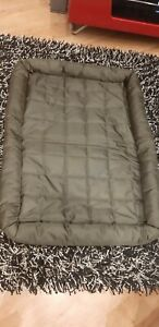 CARP DOG Pet Dog Waterproof Wipe Clean Crate Green Quilted Mattress Bed