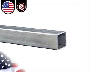 "3/4"" Galvanized Square Steel Tube - 16 gauge - 36"" inch long (3-ft)"