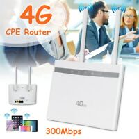 WiFi Repeater Hotspot Sim Card Modem Dual Antenna Car Wireless 4G LTE CPE Router