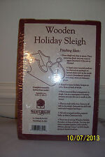 Wooden Holiday Sleigh Kit - NIP
