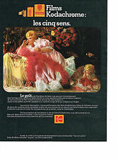PUBLICITE ADVERTISING  1972   KODAK  films KODACHROME