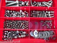 275 pièces Acier Inox Ensemble de vis Boîte vélo ISO 7380 LOT