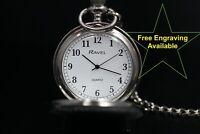 "Gents ""Ravel"" Pocket Watch - Quartz - Free Engraving - UK Stock"