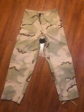 Gore-Tex Pants Extended Cold Weather Desert Camouflage Trousers Small Long