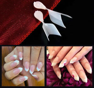 Short Edge nail tips / Prism Edge French Nail Tips For DIY Nail art 506Pcs/ bag