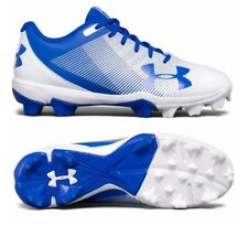 Under armour boys baseball cleats 1297316-411 blue white new with box UA  Youth e6b2f4bb5c6