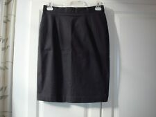 Women's Black Cotton  Straight Pencil Skirt Purchased in Hong Kong Size 40