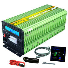 EDECOA 3000 Watt 6000W Power Inverter 12V DC to 110V 120V AC LCD Cable Car Truck