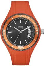 Guess Uomo Orologio Watch Man Uhr Sport W95143G5 Gomma Caucciù Arancione Orange