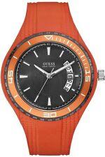 Guess Uomo Orologio Watch Man Uhr Sport W95143G5 Gomma Caucciù Arancione Orange