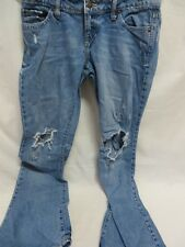 Aeropostale Destroyed Jeans Authentic Flare Blue Size 5/6  #6460