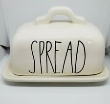 Vintage Rae Dunn M Exclusive Stamped Covered Spread Butter Dish LL Rare Gift