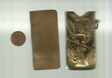 Miniature Book CHARLES LETTS'S THUMB DIARY FOR 1905 with OWL brass slipcase RARE