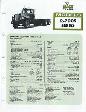 Truck Brochure - Mack - R-700S series - c1977 (T3304)