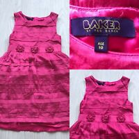TED BAKER SILKY PARTY DRESS CERISE PINK AGE 10 AC