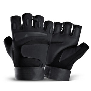 Tactical Half Finger Gloves Non-slip Mens Army Soldier Special Forces Fingerless