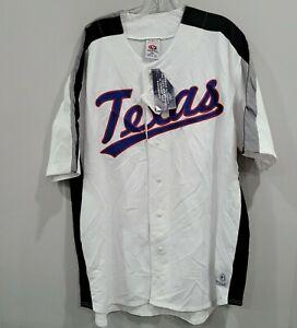NWT True Fan Texas Rangers White Baseball Jersey Mens 2XL Sewn