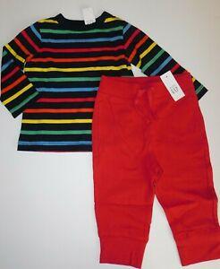 NWT Baby Gap Toddler Boy 2 Pc Set T-Shirt/Joggers 2 Years Free Ship New