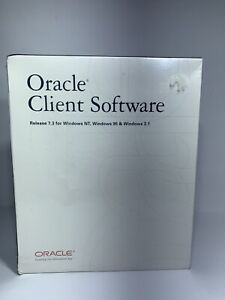 Oracle Client Software Release 7.3 for Windows NT Windows 95 Windows 3.1