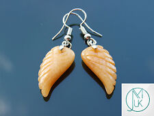 Red Aventurine Angel Wing Gemstone Earrings Natural Quartz Chakra Healing Stone