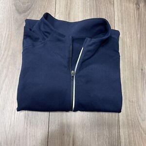 Lululemon Mens 1/4 Quarter Zip Pullover Sweater Warm Back Pocket Size XL EUC