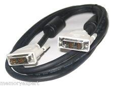 DVI TO DVI DVI-D SINGLE LINK MONITOR PC VIDEO HDTV CABLE 1.8M-1.2M UK SELLER