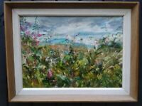 Amongst the Willowherb, Wensleydale Impressionism.ORIGINAL. Vintage Frame. Dales