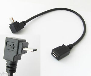 1pc 1ft/30cm Micro 5pin USB Male To Female Right Angle UP Direction Cable Cord