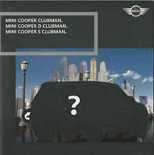 Mini Clubman Cooper Cooper D & Cooper S 2007 German Market Brochure 22 Pages
