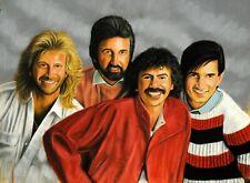 "Gary Adelman, ""Oakridge Boys"", 17.75x22, Original, Hollywood, Pastel"