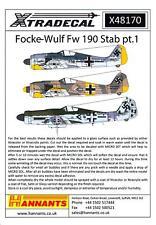 Xtra Decals 1/48 FOCKE WULF Fw-190 Stab Part 1