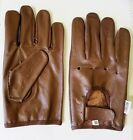 2XL MENS BROWN SOLID THICK LEATHER DRESSING DRIVING GLOVES UNLINED RK-1011-BROWN
