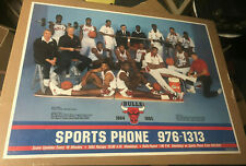 1984/85 SPORTS PHONE ADVERTISING POSTER CHICAGO BULLS MICHAEL JORDAN HIGH GRADE