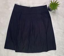 Vince Inverted Pleat Skirt Womens Sz 10 Black Mid Length