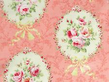 Stoffe Lecien Rosenstoffe rosa creme Rosen Schleifen Rosenbilder Biedermeier BW