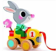 Rabbit Pull Along Wooden Toy